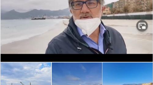 VIDEO – Ripascimento dell'arenile tratto Torre Angellara- Polo Nautico. Sopralluogo dell'Assessore Mimmo De Maio.
