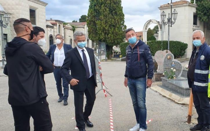 Ognissanti, cimitero in sicurezza a Salerno