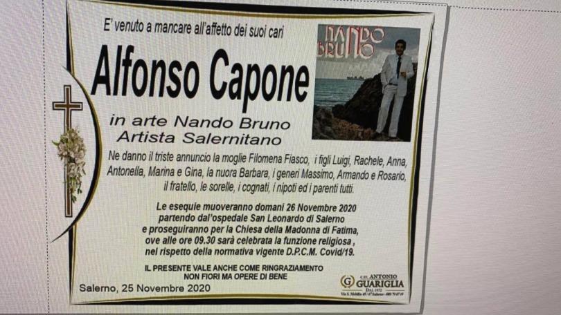Salerno piange Nando Bruno, voce salernitana della canzone napoletana