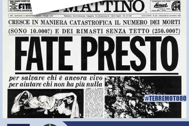 Novembre, 40 anni dopo: la Protezione civile della Regione Campania ricorda le vittime del terremoto