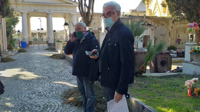 Maltempo e danni al cimitero di Sarno, sopralluogo del sindaco Canfora
