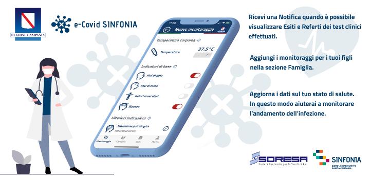 E-Covid Sinfonia, l'App di Soresa è tra le più scaricate in Italia per la categoria medicina