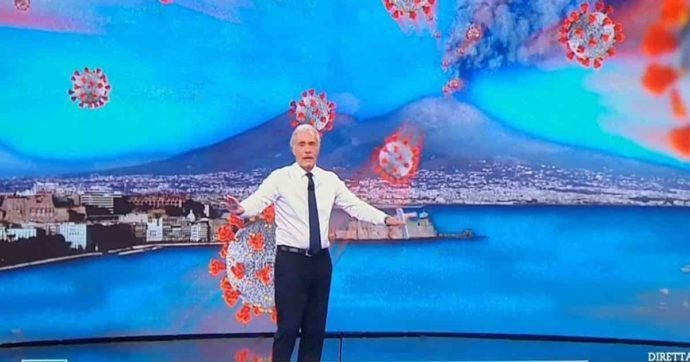"""Il Vesuvio che erutta coronavirus, Giletti nella bufera: """"Fa solo propaganda leghista"""""""