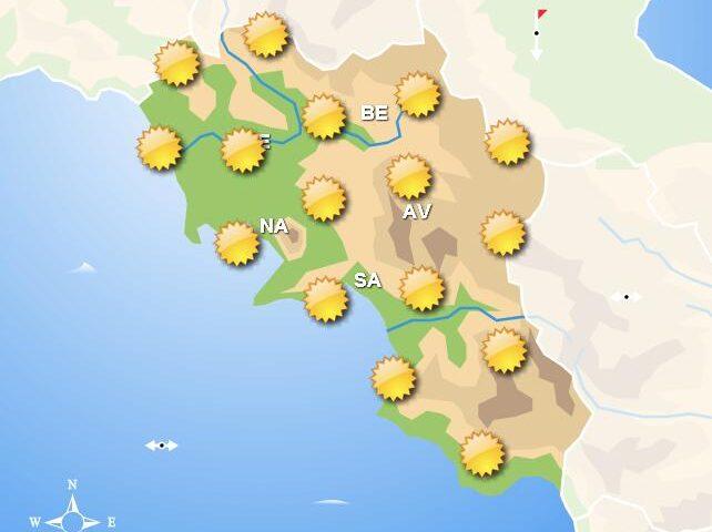 Meteo domani, giornata di sole su tutto il territorio della Campania