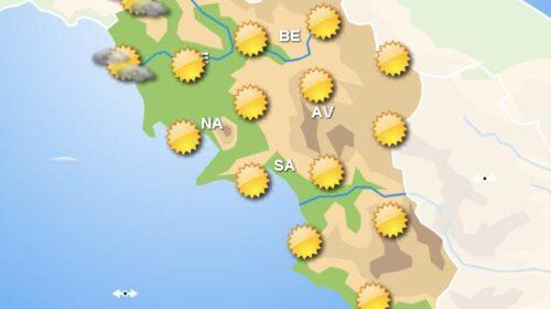 Meteo domani, in Campania giornata con cieli sereni