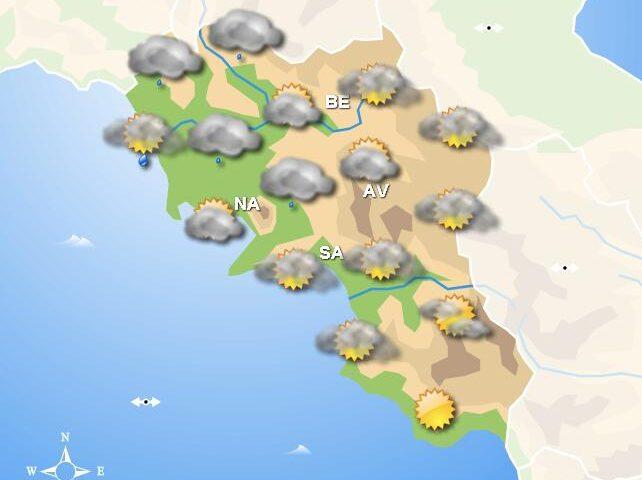 Meteo domani, in Campania piogge diffuse in mattinata con miglioramento nel pomeriggio