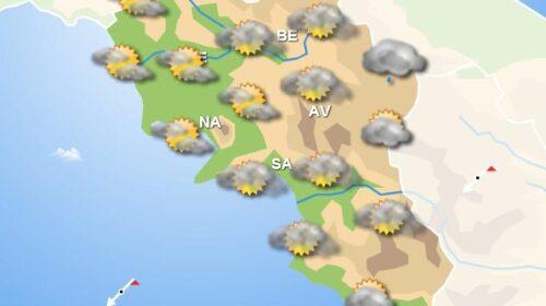 Meteo domani, in Campania cieli poco nuvolosi con piogge sparse nel pomeriggio