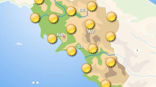 Meteo domani, in Campania sole su tutto il territorio