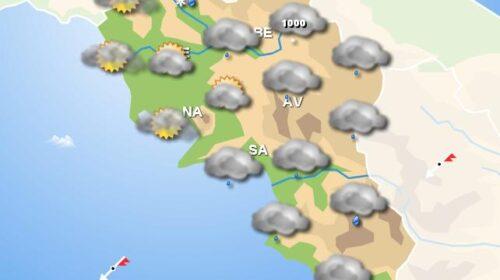 Meteo per il fine settimana, in Campania domani pioggia e domenica nuvolosità diffusa