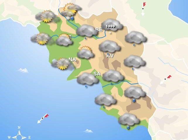 Meteo fine settimana: in Campania sabato mattina con la pioggia, poi nubi fino a domenica