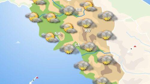 Meteo domani, in Campania nubi ovunque e piogge sparse nelle zone settentrionali