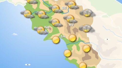 Meteo domani, in Campania cieli poco nuvolosi