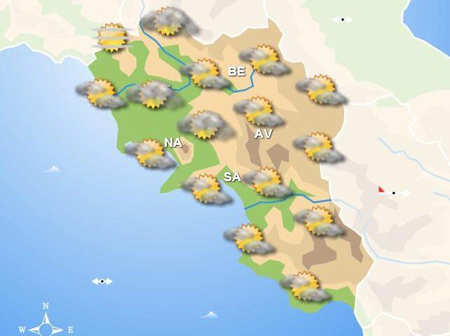 Meteo domani, in Campania cieli poco nuvolosi. Piogge a sud della regione