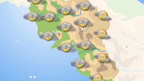 Meteo in Campania, domani nuvoloso su tutta la regione e piogge deboli