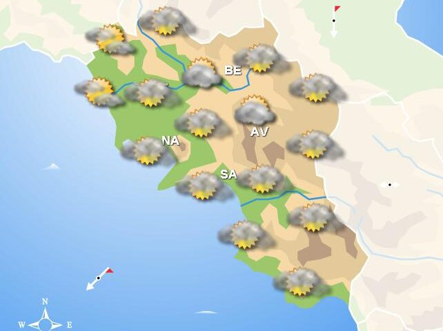 Meteo domani, in Campania tempo asciutto con nubi sparse e deboli piogge