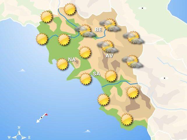 Meteo domani, in Campania cieli sereni con nubi e piogge sparse nel pomeriggio