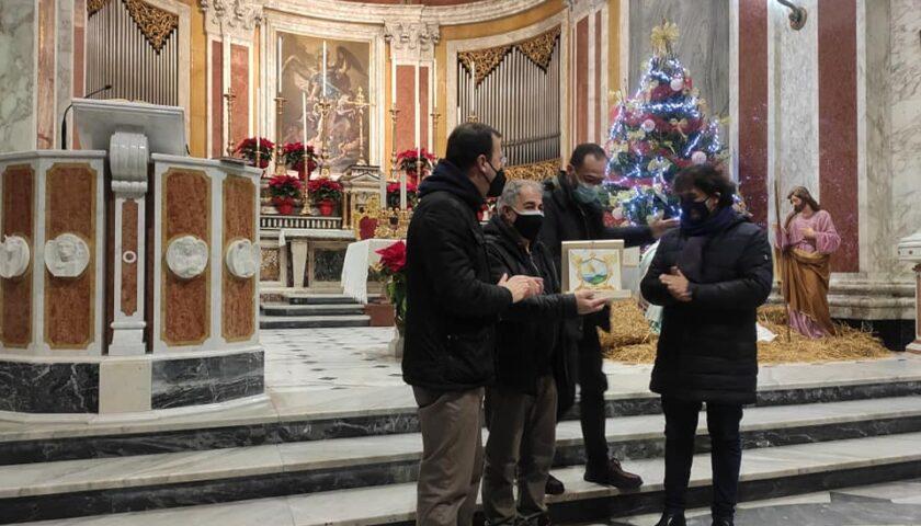 Pagani, mattonella artistica al Superiore dei Redentoristi Gennaro Sorrentino