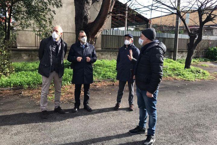 Nocera Inferiore, stamane sopralluogo dei tecnici Acer in Via Borsellino e in via Filangieri