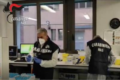 Nas nei laboratori per test covid: irregolarità in 1 su 4