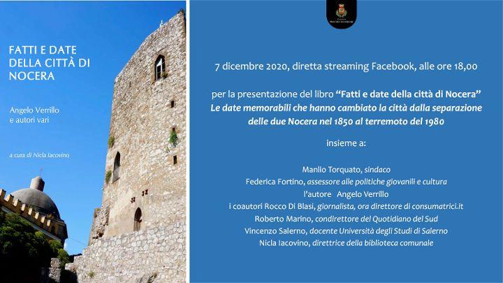 Fatti e date della città di Nocera Inferiore di Angelo Verrillo,il libro sulla storia di Nocera Inferiore dal 1850 al 1980