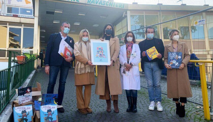 Istituto Sa.Dra., donati oltre 100 libri per ragazzi alla Fondazione Santobono