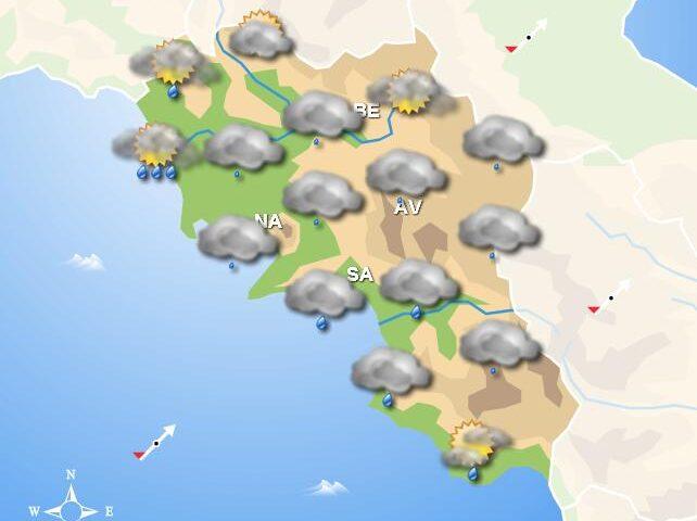 Meteo in Campania, domani tempo instabile con piogge sparse
