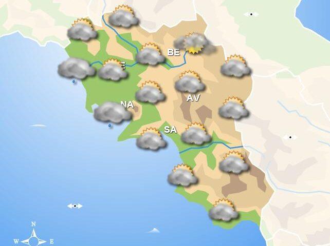 Meteo domani, in Campania continua la pioggia. Schiarite in serata