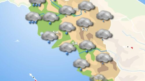 Meteo in Campania: domani pioggia, miglioramenti tra sera e notte