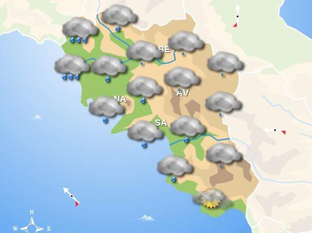 Meteo domani, in Campania pioggia e nubi diffuse