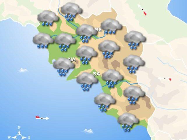 Meteo domani, in Campania giornata caratterizzata da pioggia
