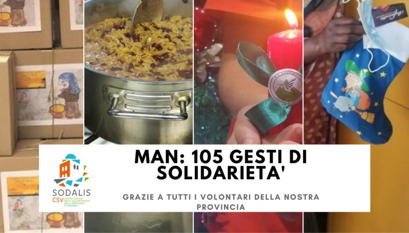 Dalla collaborazione tra l'associazionismo e il Centro Servizi per il Volontariato Sodalis, 105 iniziative solidali per quasi 10000 beneficiari