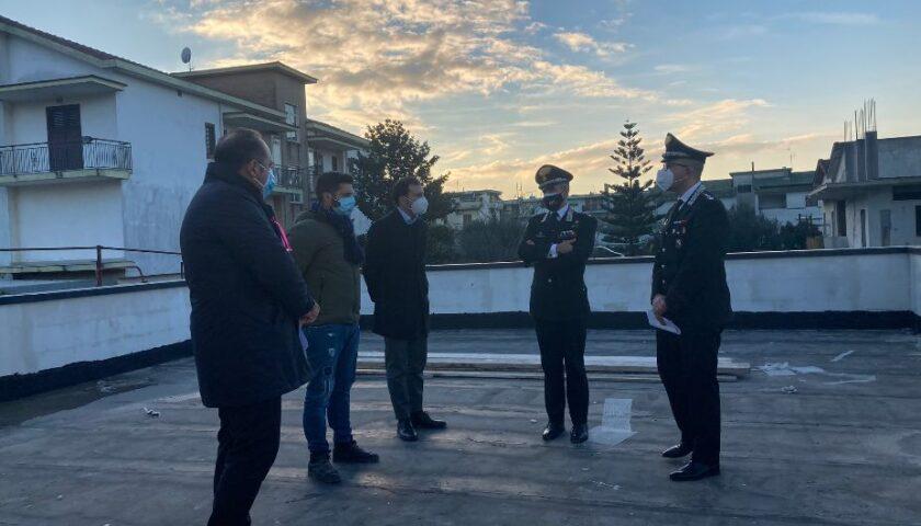 NUOVA CASERMA DEI CARABINIERI: VERTICI DELL'ARMA IN SOPRALLUOGO CON IL SINDACO ALL'EX MATTATOIO