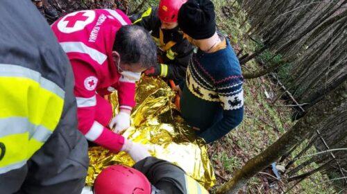 Scivola per 60 metri in uno strapiombo ad Acerno, salvato