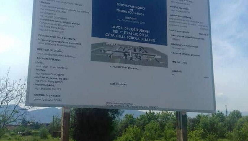"""""""Città della scuola"""" a Sarno, la Provincia vuole costruire l'opera e blinda 6 milioni di euro"""