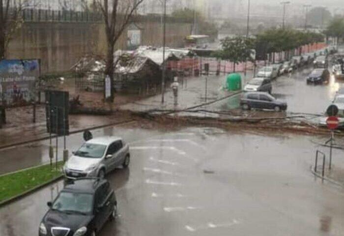 Crollo in via Vinciprova, il Comune di Salerno abbatte gli alberi