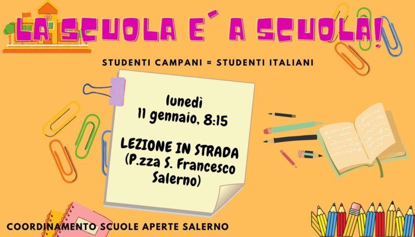 Scuole Aperte: a Salerno nuovo sit in di genitori, studenti e docenti