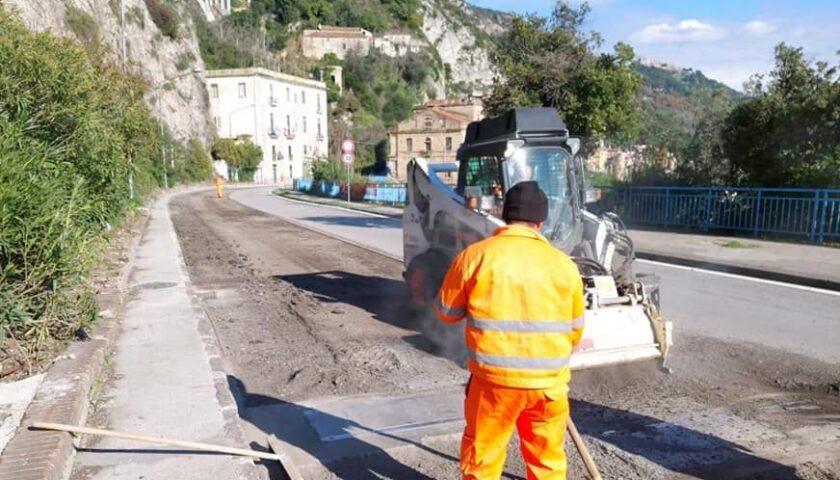 Continuano i lavori sulla SS 18 fra Salerno, Cava e Vietri