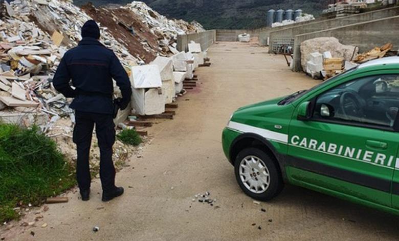 Controlli ambientali: sequestrata area adibita a discarica a San Gregorio Magno