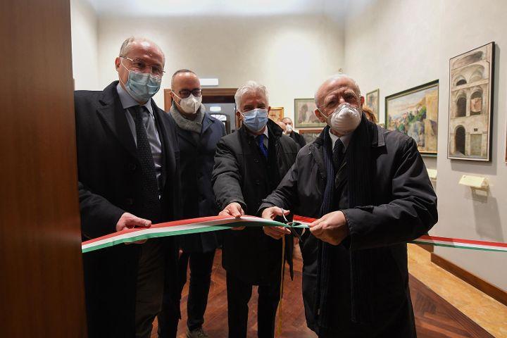 """Inaugurata con De Luca la mostra """"A sud del Barocco"""" nel nuovo lotto della Pinacoteca"""