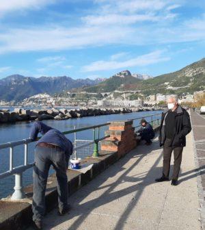 Controlli anti covid a Salerno, sindaco e vigili urbani sul lungomare a e Santa Teresa
