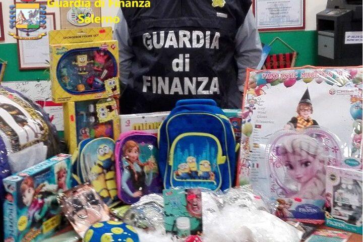 Prodotti non a norma, sequestro per 110mila pezzi nel Salernitano