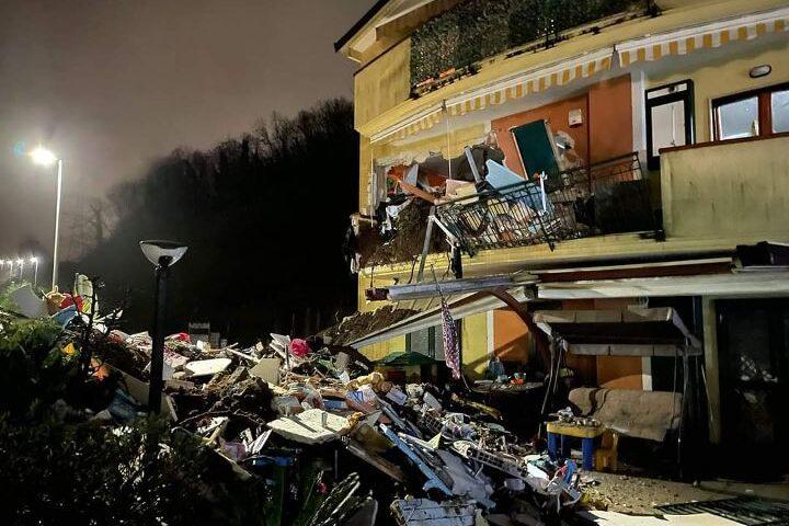 Frana a Coperchia di Pellezzano, sequestrate le case sventare dal fango