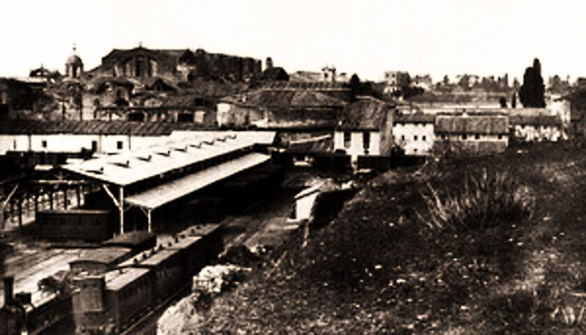 Il 25 febbraio 1863 si inaugura la tratta ferroviaria da Roma a Napoli