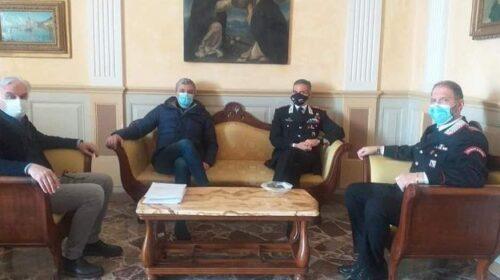 Il colonnello comandante provinciale dei carabinieri Trombetti in visita al Comune di Sarno