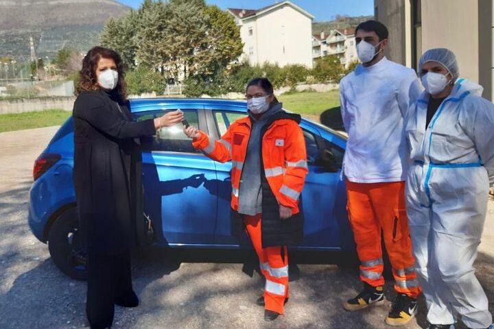 Bilotti dona un'auto agli operatori dell'Usca dei Picentini