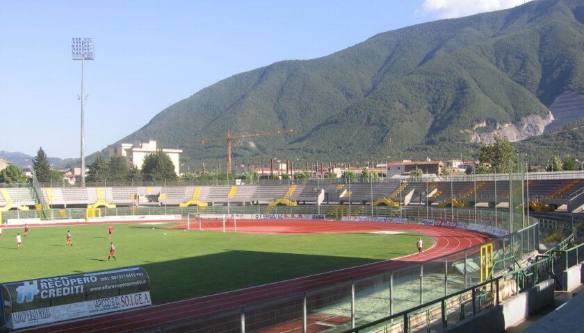 Iniziati stamattina i lavori di riqualificazione dello Stadio San Francesco di Nocera Inferiore