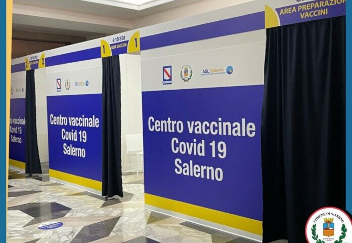 Centro vaccinali Salerno, pronta da oggi l'area dell'Augusteo