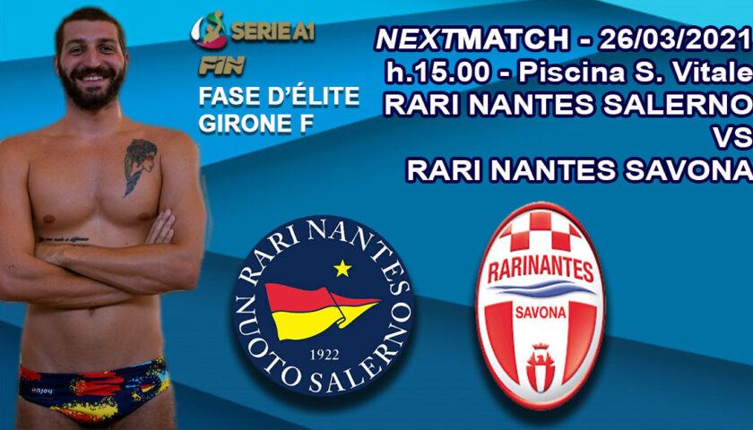 Terza giornata della fase d'élite della serie A1 di Pallanuoto: la Rari Nantes Salerno ospita il Savona