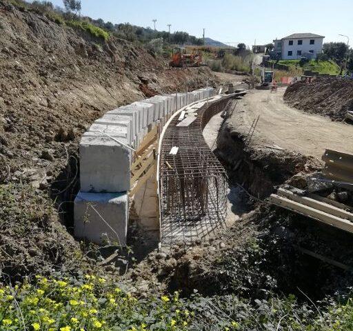 In località Gabella di Pisciotta continuano i lavori sulla SP 447