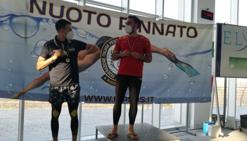 I Master della Rari Nantes macinano record su record agli invernali di nuoto pinnato